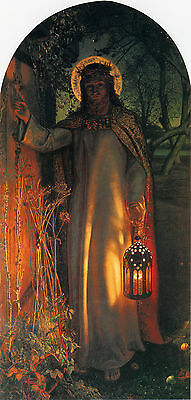 Oil painting The Light of the World - Christ Jesus holding lamp at night canvas