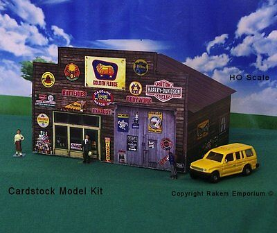 HO Scale Garage Shed Golden Fleece Model Railway Building Kit - REGFS1