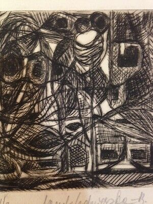 Unknown Unidentified Europe abstract etching