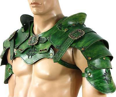 Leather Rogue Armor Pauldron Set Larp SCA Medieval Cosplay Costume Armor