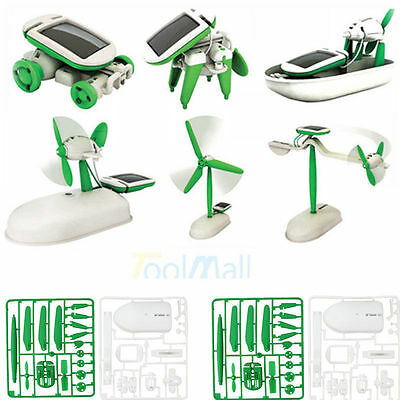 6-In-1 Solar Educational Kit Build 6 Different Robotic Toys Powered By The Sun