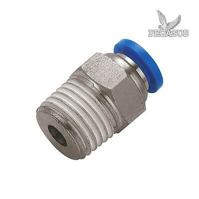 Male Stud Push In Fit Pneumatic Fittings for Air Water Hose Tube 2 / 5 / 10 Pack