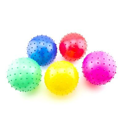 """5 Soft 4"""" Spike Knobby Balls Child Party Favor Bouncy Therapy Sensory Autism"""