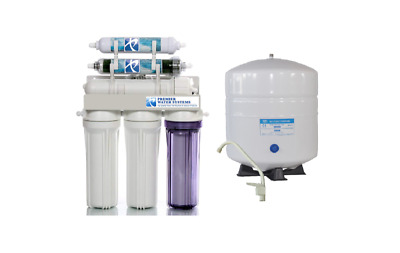 Dual Outlet Reverse Osmosis Water Filter Systems DI/RO 50 GPD Drinking/Aquariums