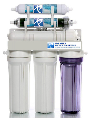 Dual Outlet 50 GPD Reverse Osmosis Water Filter System Drinking/Aquarium RO/DI