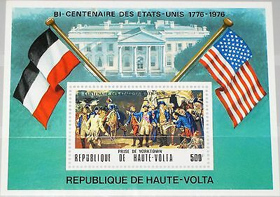 UPPER VOLTA OBERVOLTA 1975 Block 34 SS 367A US Independence War White House MNH