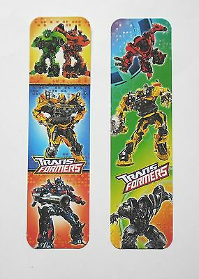Transformers 2pcs Cardboard Bookmarks 6.5'' lenght (16cm).
