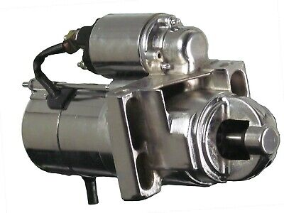 SBC BBC 305 350 454 Chrome Chevy Staggered Bolt Mini Starter 3HP  6449C-MBK