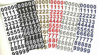 """50 x 1"""" High Sticky Vinyl Numbers 0-9 For Crafts, Menus, Hobbies,Signs 6 Colours"""