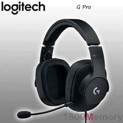GENUINE Logitech G Pro Surround Sound Wired Gaming Headset Black for PC XBox PS4