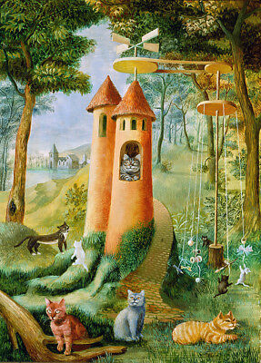 Cats Paradise  by Remedios Varo   Giclee Canvas Print Reproduction