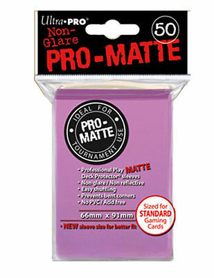 50 ct Pink Ultra Pro Matte Deck Protector Card Sleeves Non-Glare Pokemon MTG +