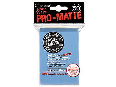 50 ct L Blue Ultra Pro Matte Deck Protector Card Sleeves Non-Glare Pokemon MTG +