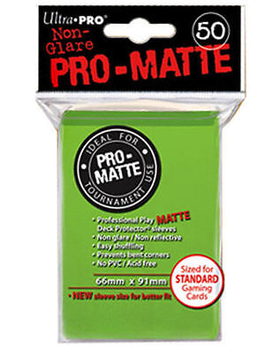 50 ct Green Ultra Pro Matte Deck Protector Card Sleeves Non-Glare Pokemon MTG +