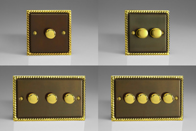 Antique Brass V-Pro 100w 2-Way LED Trailing Edge Dimmer 1 to 10 LED's