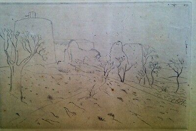 Unknown Unidentified  20' Europe Expressionist etching Czech hungary factory