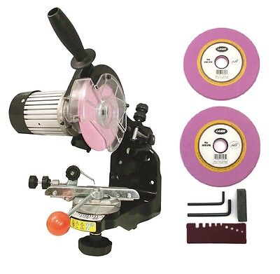 """NEW Electric Chainsaw CHAIN GRINDER / SHARPENER w/ Grinding Wheels 1/8"""" & 3/16"""""""
