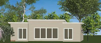 3 Bedroom DIY Granny Flat Kit The Escape 69.9m2 on Gal Chassis - CGI Wall Sheets