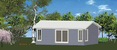 1 Bedroom DIY Granny Flat Kit - The Island 52m2 on Gal Chassis - CGI Wall Sheets