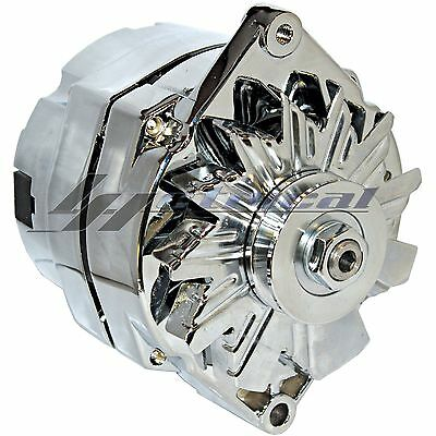 Chrome Alternator For Gm Chevy Gmc G Van 1500 2500 3500 3Wire High Output 110Amp