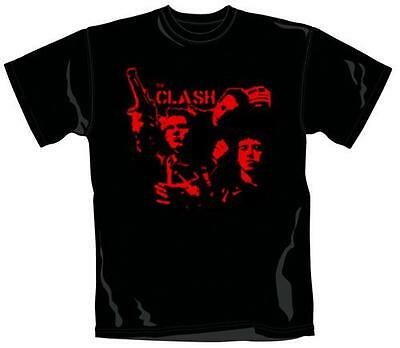 The Clash: Band Gun Art Men's T-Shirt - New & Official Sealed In Pack [Small]