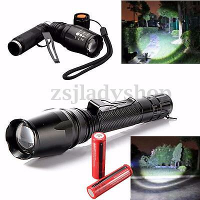 3000 LM T6 LED Zoomable Flashlight Torch Lamp Light+Battery