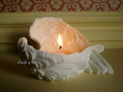Angel Wing Candle Holder Votive Tealight Dining-Hall Lounge Memorial Feather