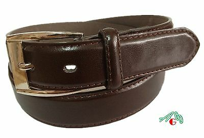 BOYS DRESS  LEATHER BELT Brown  S / M / L / XL $5.95 Free Shipping