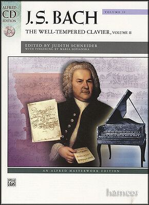 JS Bach The Well Tempered Clavier Volume 2 Piano Music Book/CD