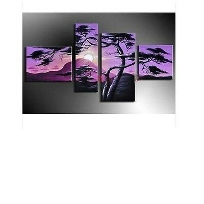 4 pieces Large Modern Abstract Art Oil Painting Wall Decor canvas(No Framed)