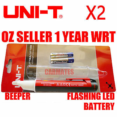 UNI-T Noncontact VOLTAGE DETECTOR TESTER UT12B Beeper LED indicator auto off