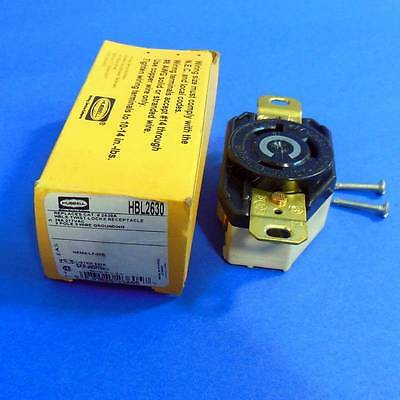 Hubbell 277Vac 30A 2Pole 3 Wire Twist Lock Receptacle *New* *Pzb*