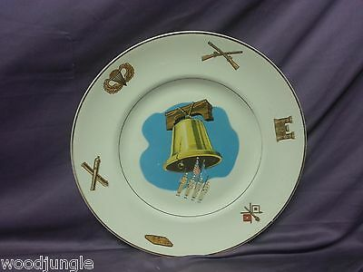 W.S GEORGE AMERICAN CERAMIC INDUSTRIES LIBERTY BELL MILITARY PLATTER CHOP PLATE