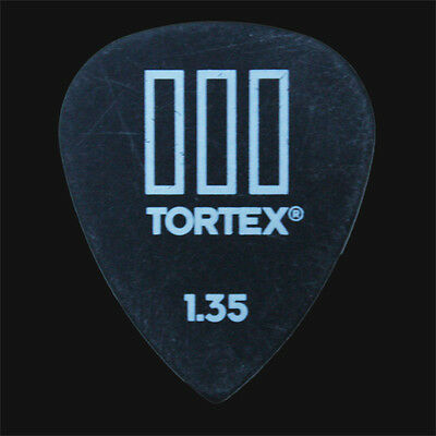 Dunlop Tortex TIII III Black 1.35mm Picks Plectrums 1 2 3 4 5 6 10 12 20 24 36