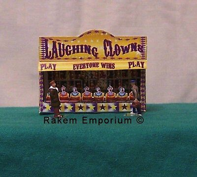 HO Scale 3D Laughing Clown Carnival Booth Model Railway Building Kit - RELC1