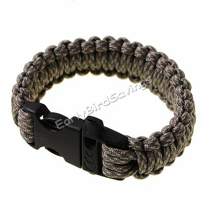 Camo 550 Survival Bracelet Paracord Military Tactical Camping Buckle Cord Cable
