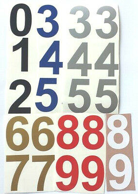 """7"""" High Sticky vinyl numbers crafts, bins, doors, filing 6 Colours."""