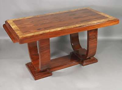 A Yu-9 Exceptional Table Table Wood Table in French Art Deco style