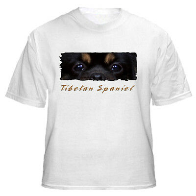 "Tibetan Spaniel    black & tan   ""The Eyes  Have It "" T shirt"