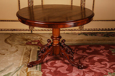 Original late Biedermeier table around 1860 Mahagoni