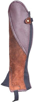 Brown Suede with Brown Leather Classic Comfort Gaiters