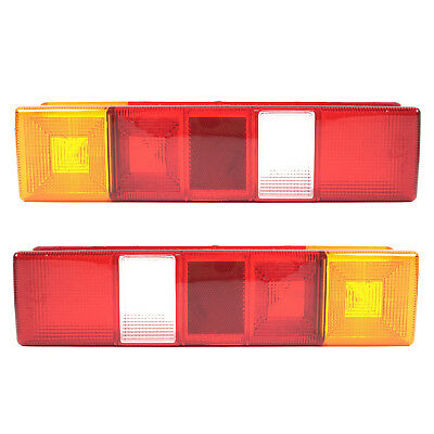 Ford Transit Rear Lamp Light Lens Tipper Pick Up Pair Left & Right 1985 Onwards