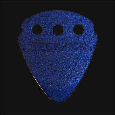 Dunlop Teckpick Guitar Picks / Plectrums - Blue Aluminium - 1 2 3 4 5 6 10 12