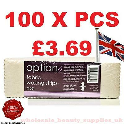 FABRIC WAXING  STRIPS 100 Per Pack Leg Bikini Cotton Wax Professional HIVE