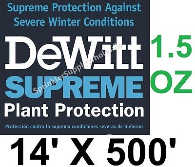 DeWitt Supreme 14'X500' 1.5 oz N-Sulate Frost cloth Freeze Blanket Supreme14-5