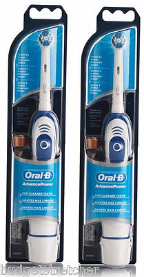 2 x Braun Oral-B Advance 400 Power Battery Electric Toothbrush + Batteries