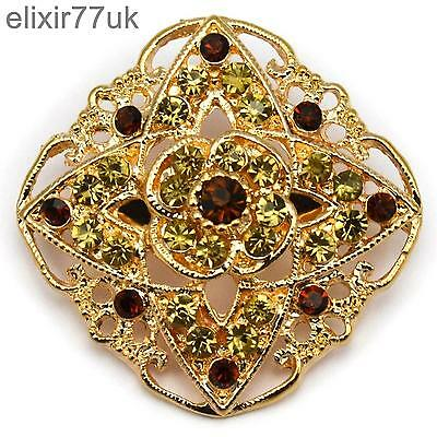 New Vintage Gold Pin Back Brooch Bouquet Lot Jewellery Job Solid Small Flower Uk