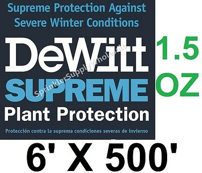 DeWitt Supreme6 6' X 500' 1.5 oz N-Sulate Frost Protection Cloth Freeze Blanket