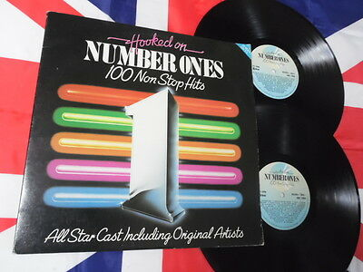 Hooked On Number Ones 100 Hits V/A - 2 LP Gatefold Press 1984 Uk