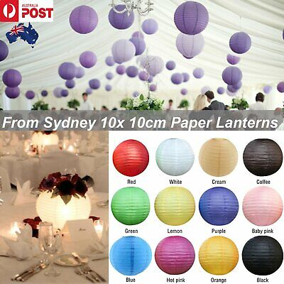 10Pcs 10cm White Paper Lantern Lanterns Party Wedding Banquet Decoration Event